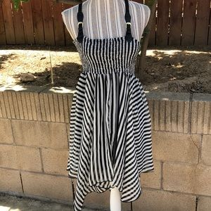 Cecilia striped chiffon suspender style dress